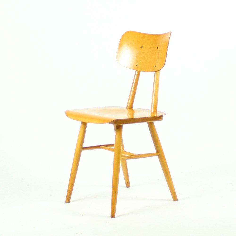 Mid century holz stuhl von ton 1960er bei pamono kaufen - Mid century stuhl ...