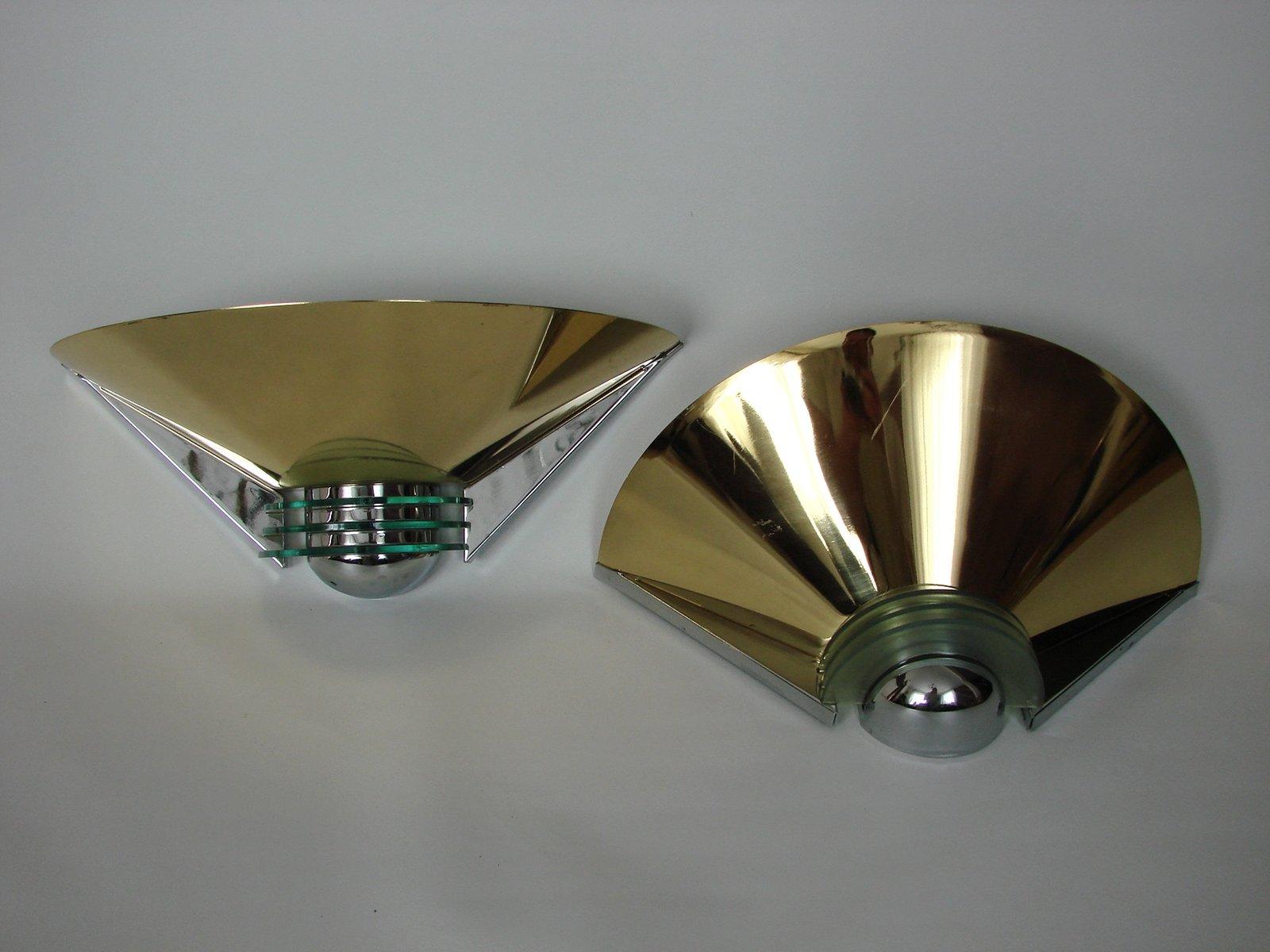Vintage Wandlampen von Nave Leuchten, 1970er, 2er Set