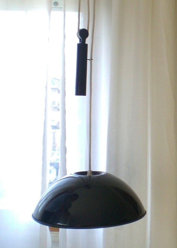 Blaue Vintage Relemme Lampe von Castiglioni für Flos