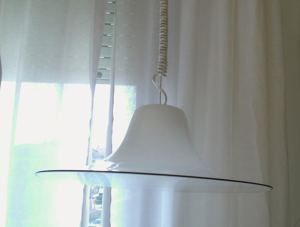 Italienische Vintage Murano Glas Deckenlampe von Leucos