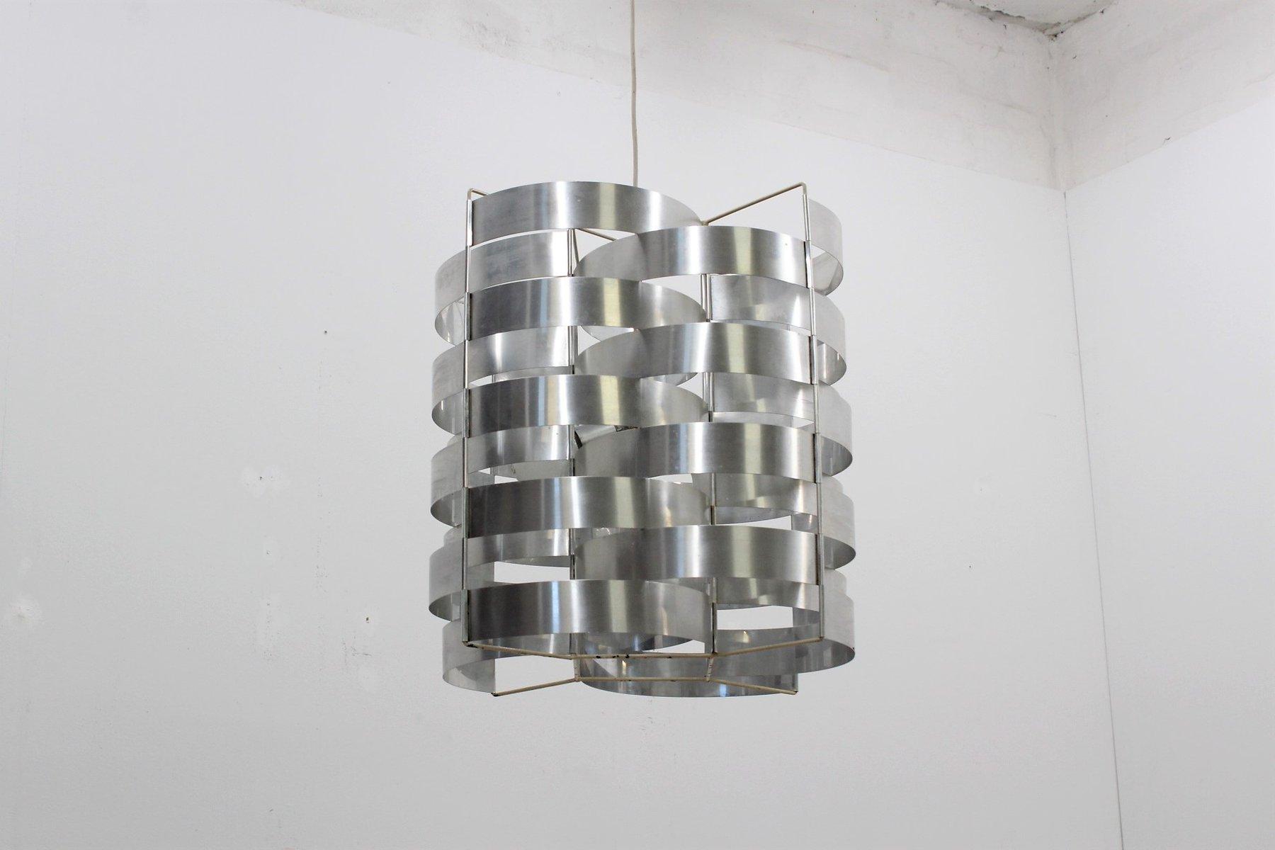 Aluminium Hängelampe von Max Sauze, 1970er