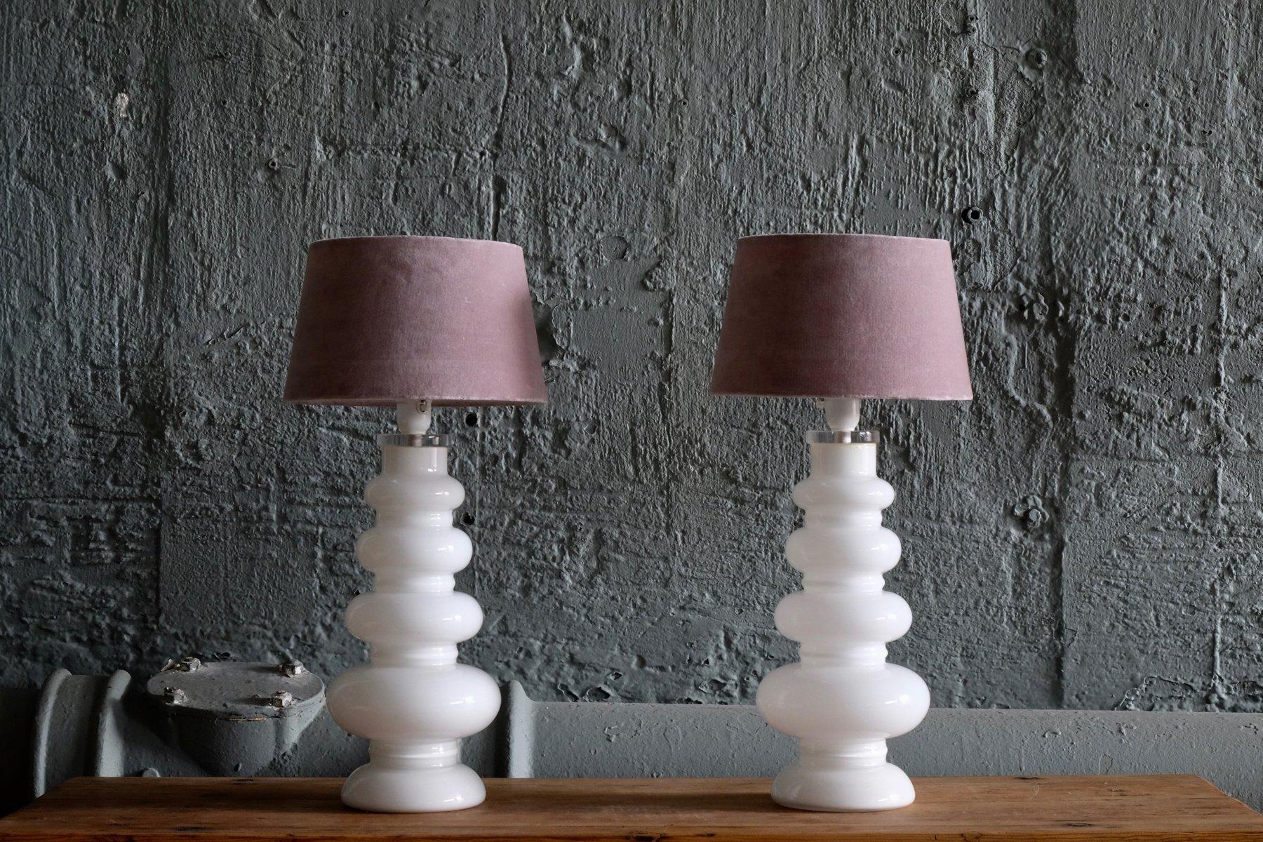 Glas Tischlampen von Carl Fagerlund für Orrefors, 1960er, 2er Set