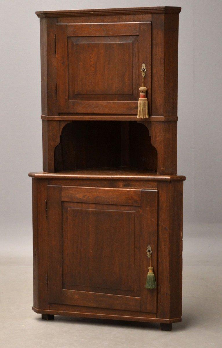 Antique Corner Cabinet In Oak For Sale At Pamono