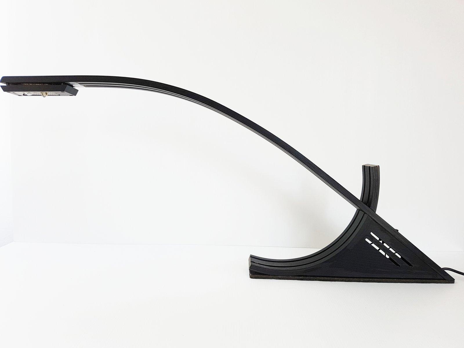 Lampe de bureau en stratifié et bois laqué noir de ab design
