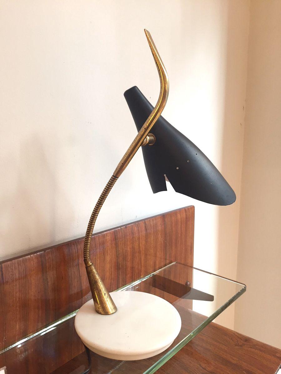 Mid-Century Tischlampe von Oscar Torlasco für Lumi