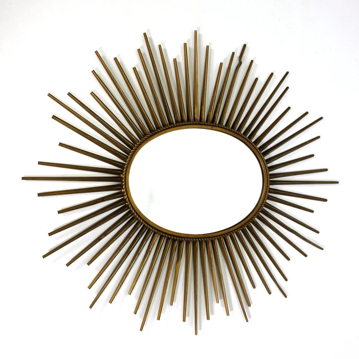 Specchio ovale vintage a forma di sole di chaty vallauris in vendita su pamono - Specchio a forma di sole ...
