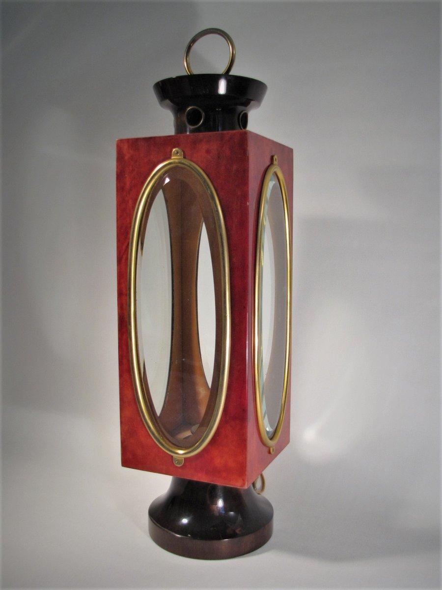 Italienische Pergament & Messing Tischlampe von Aldo Tura, 1960er