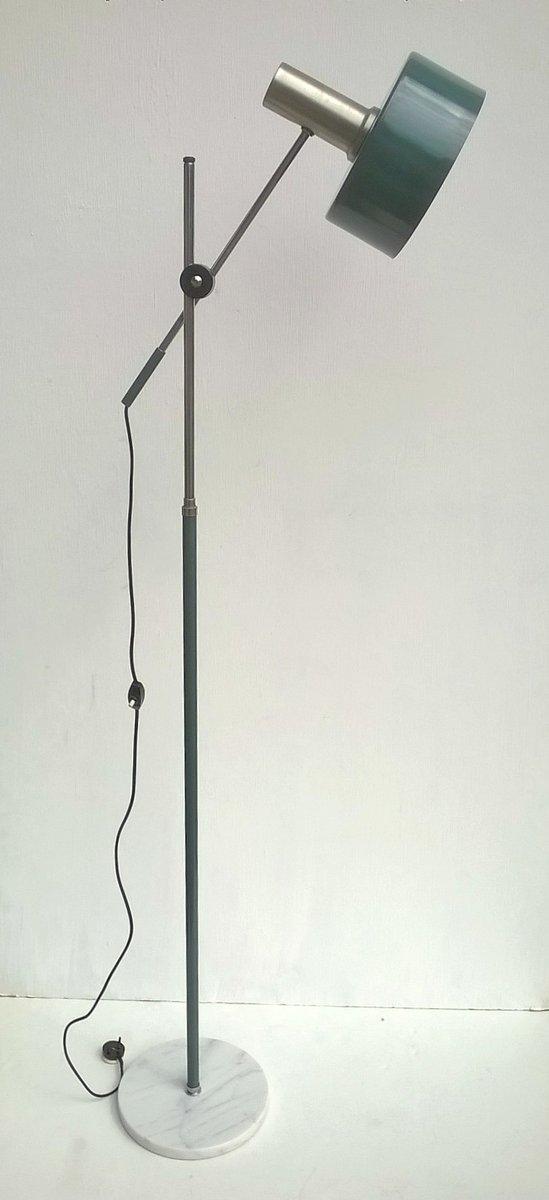 Grüne Stehlampe von Stilux, 1960er