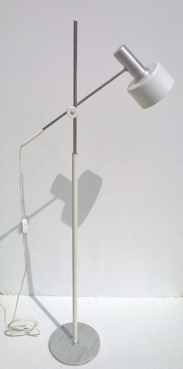 Weiße Stehlampe von Stilux, 1960er
