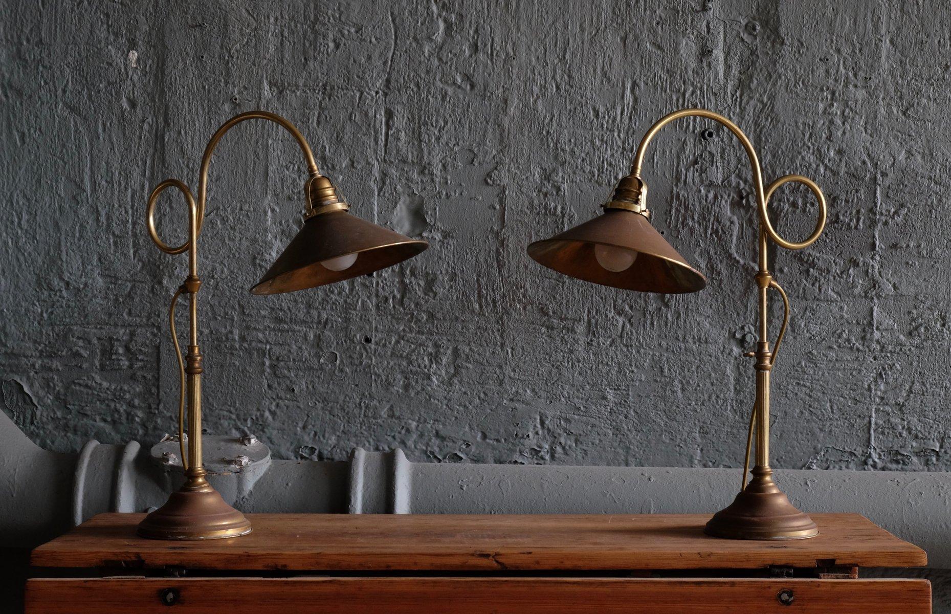 Schwedische Messing Tischlampen von Gamla Stans Lampverkstad, 1960er, ...