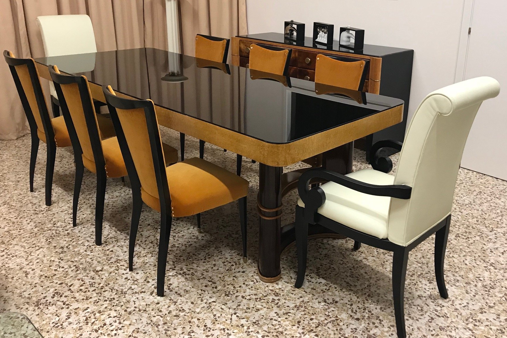 Vintage Italian Dining Table, 1940s for sale at Pamono
