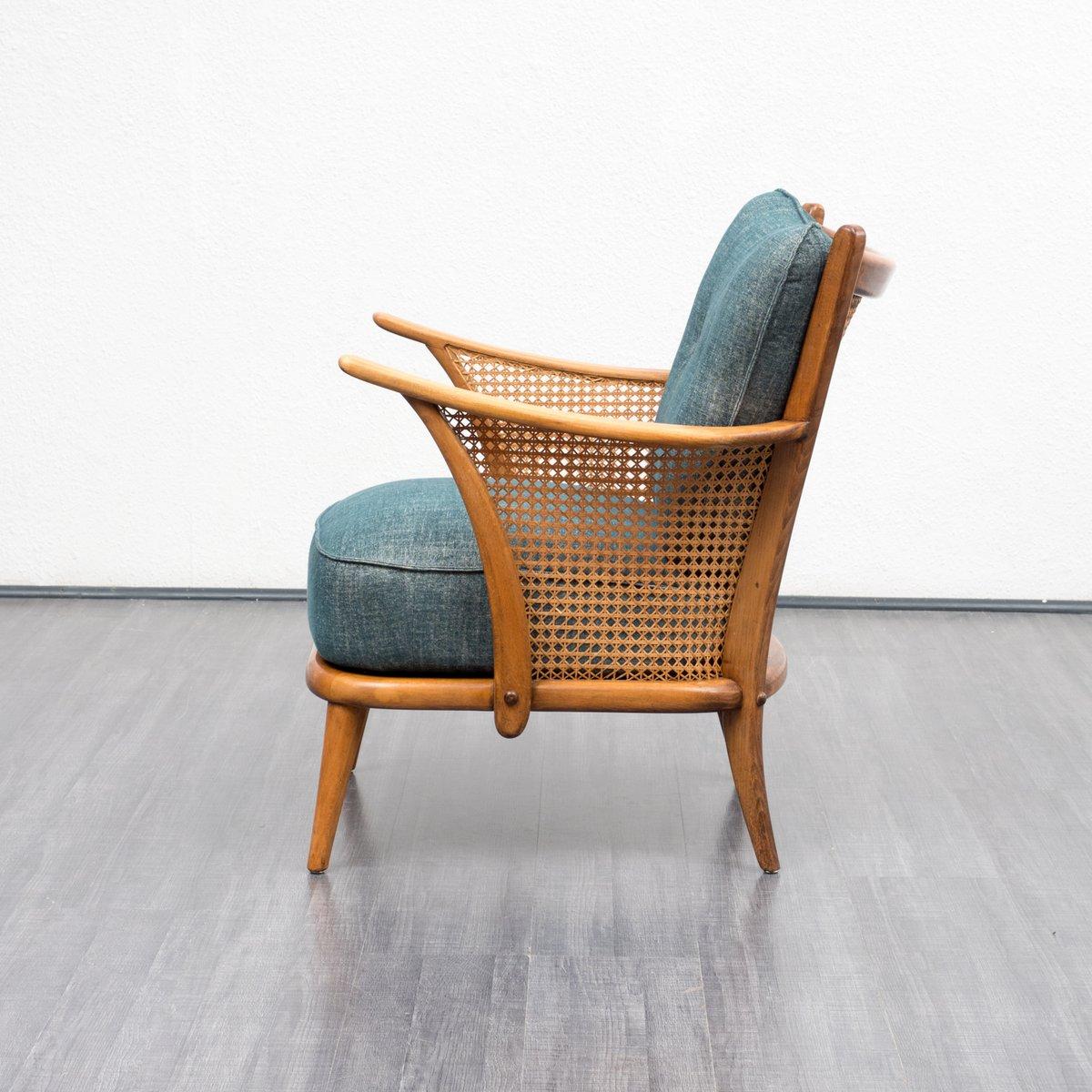 Sessel mit Wiener Geflecht 1950er bei Pamono kaufen