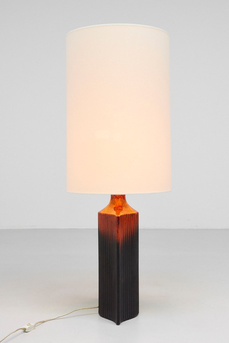 Mid Century Ceramic Floor Lamp From Kaiser Leuchten For Sale At Pamono