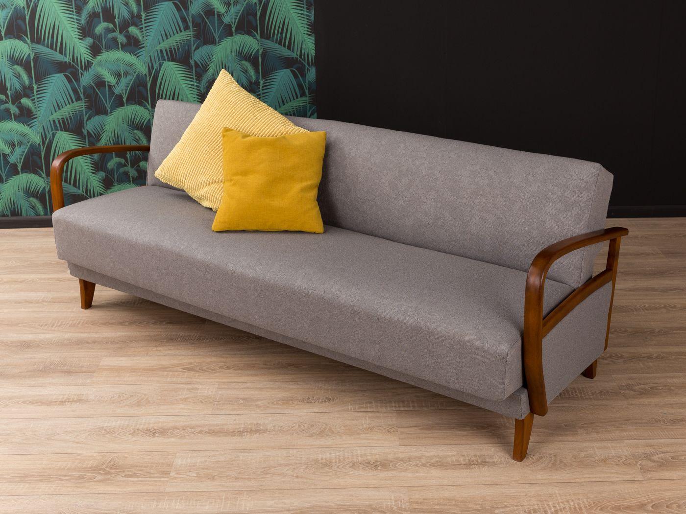 Graues Vintage Sofa oder Tagesbett, 1950er