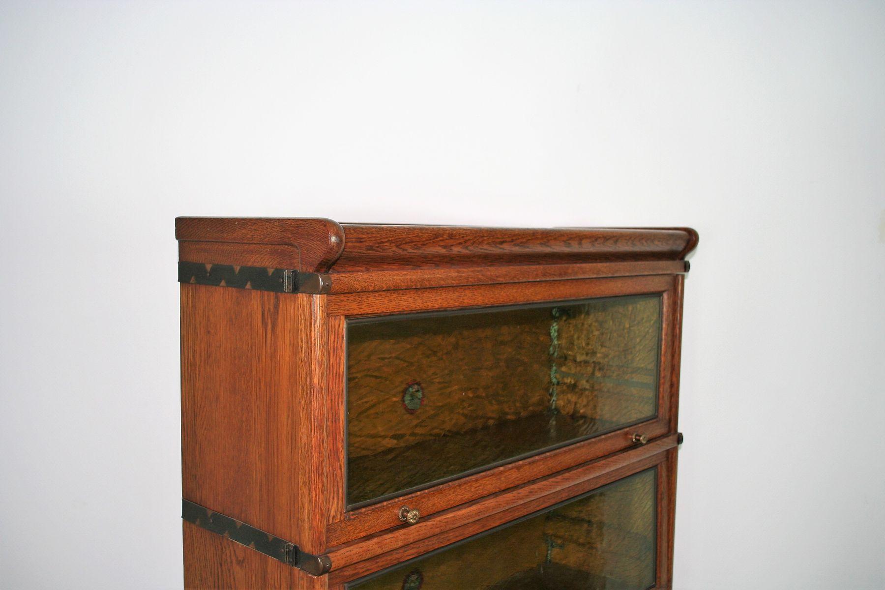 b cherregal mit glast ren von heinrich zeiss 1920er bei pamono kaufen. Black Bedroom Furniture Sets. Home Design Ideas