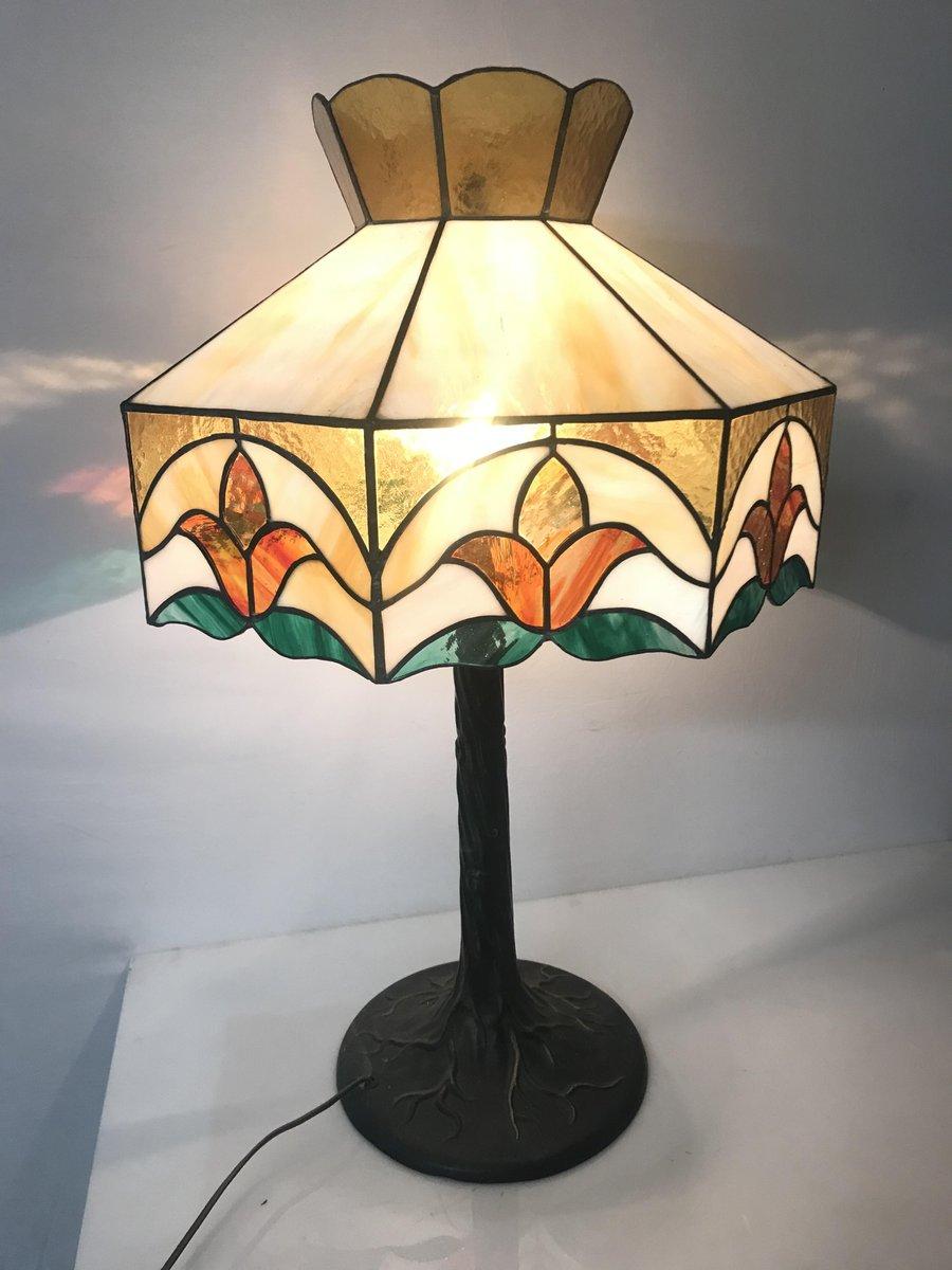 lampe de bureau vintage en verre en vente sur pamono. Black Bedroom Furniture Sets. Home Design Ideas
