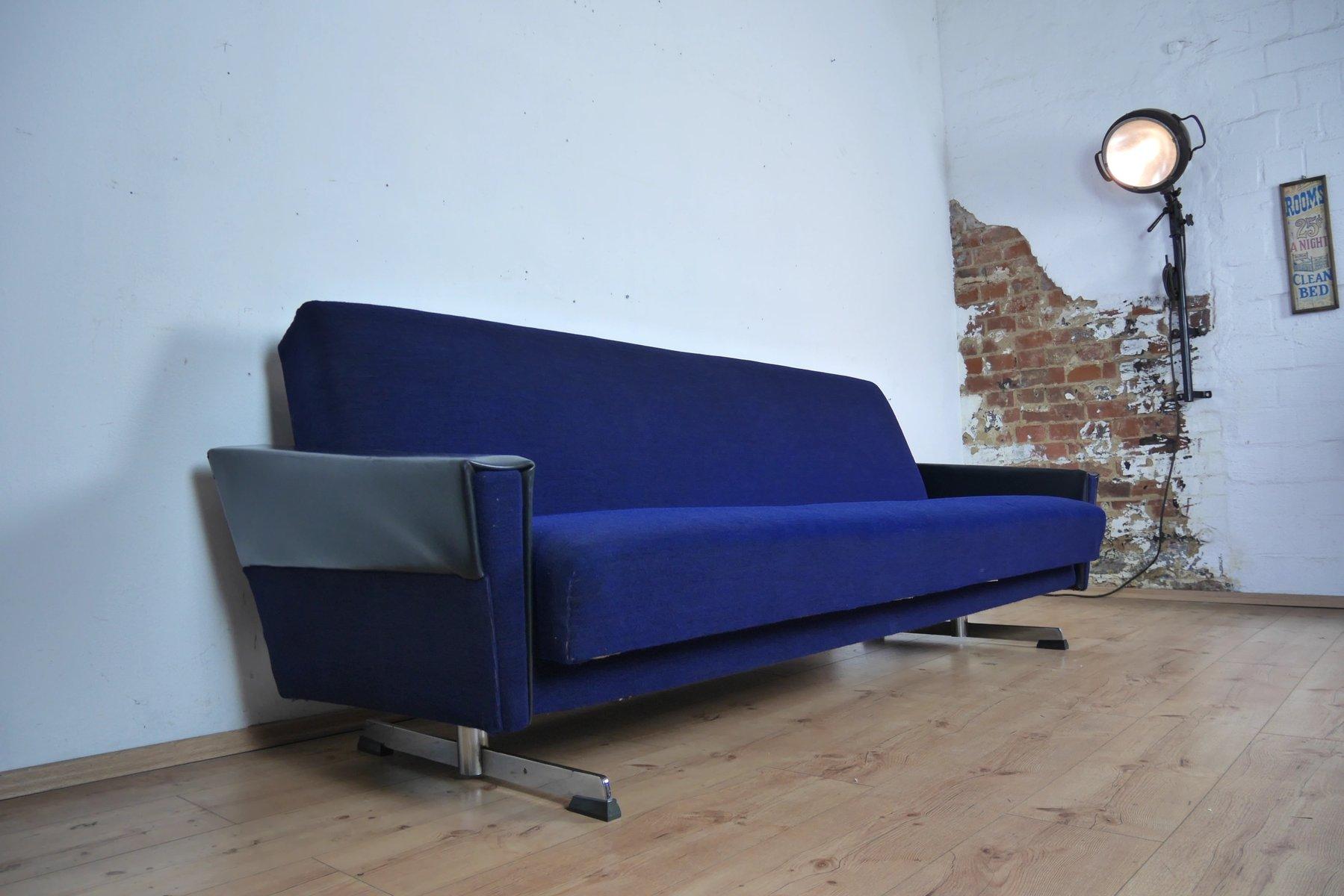 Blaues Vintage Sofa oder Tagesbett