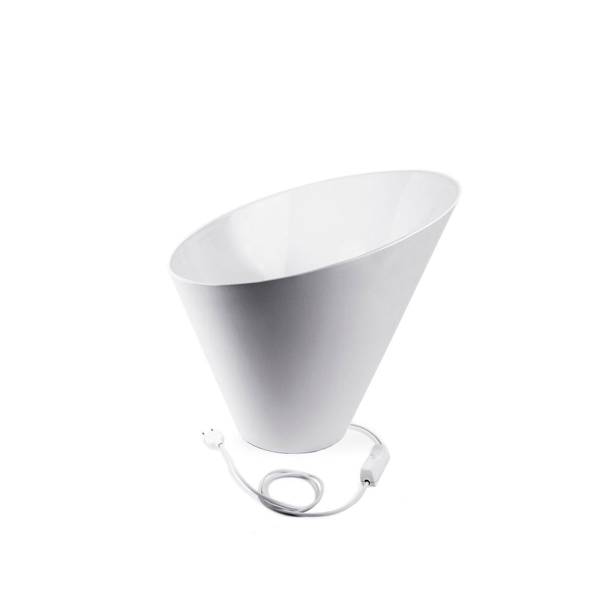Weiße Charme Tischlampe aus Keramik von Aldo Cibic für Paola C., 2018