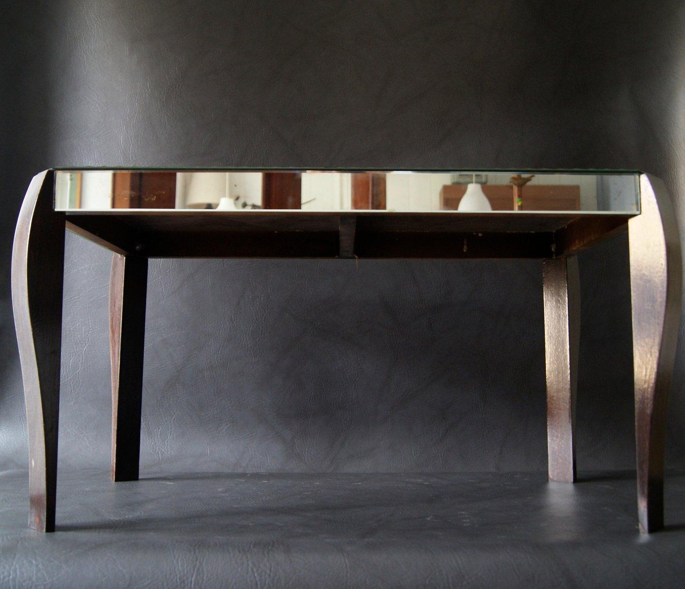 table miroir art deco 1930s en vente sur pamono. Black Bedroom Furniture Sets. Home Design Ideas
