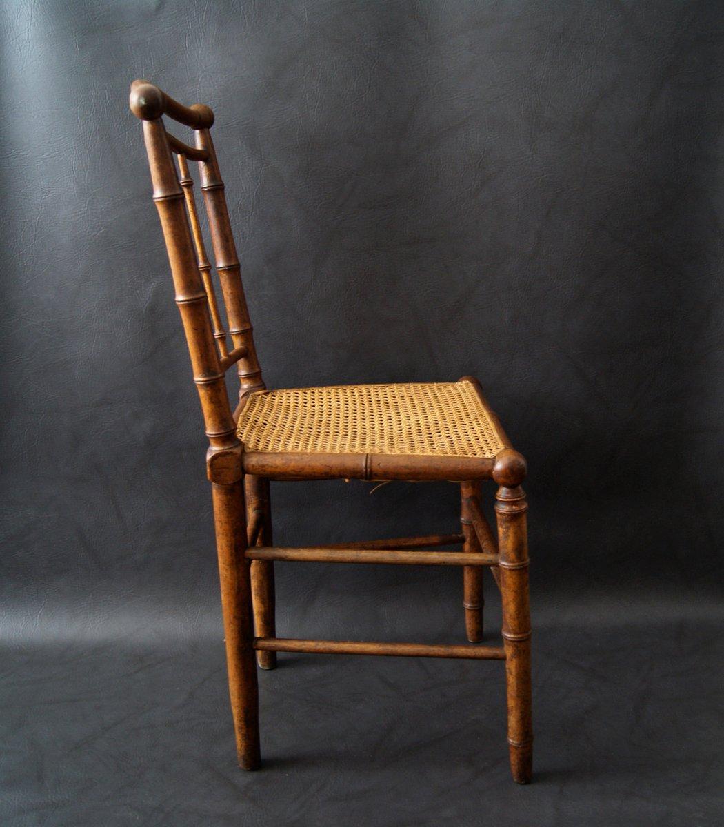 antiker stuhl in bambus optik bei pamono kaufen. Black Bedroom Furniture Sets. Home Design Ideas