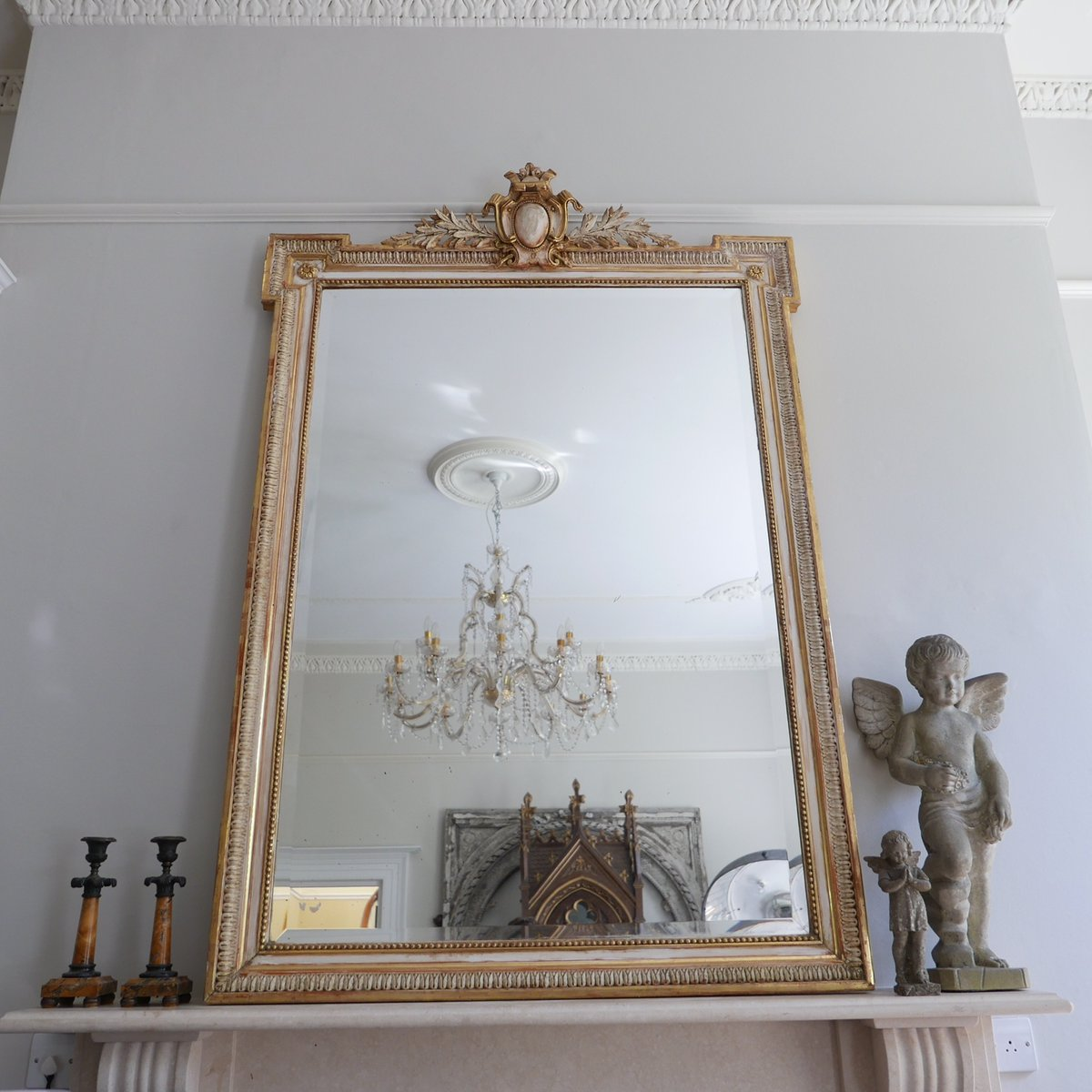 Antique Large French Mirrors Set Of 2 For Sale At Pamono