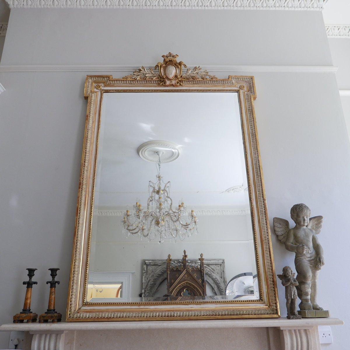 gro e antike franz sische spiegel 2er set bei pamono kaufen. Black Bedroom Furniture Sets. Home Design Ideas