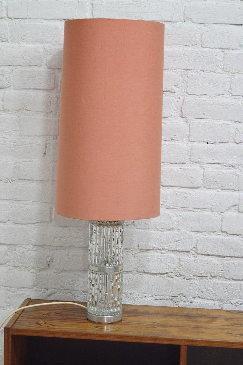 Große Kristallglas Tischlampe von Doria Leuchten, 1960er