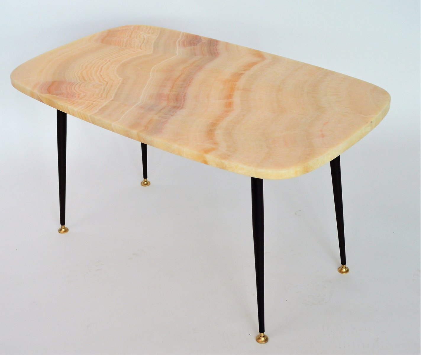 Marble Coffee Table Australia: Pink Marble Top Coffee Table Or Side Table, 1950s For Sale