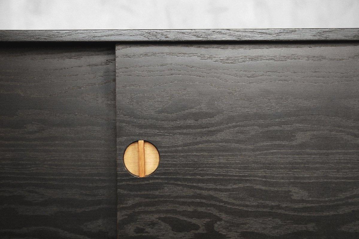 enfilade en bois brul scandinavie 1960s en vente sur pamono. Black Bedroom Furniture Sets. Home Design Ideas