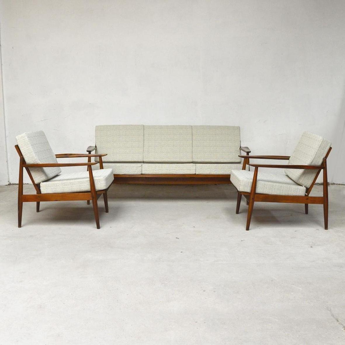 Skandinavisches Teak Lounge Set, 1960er