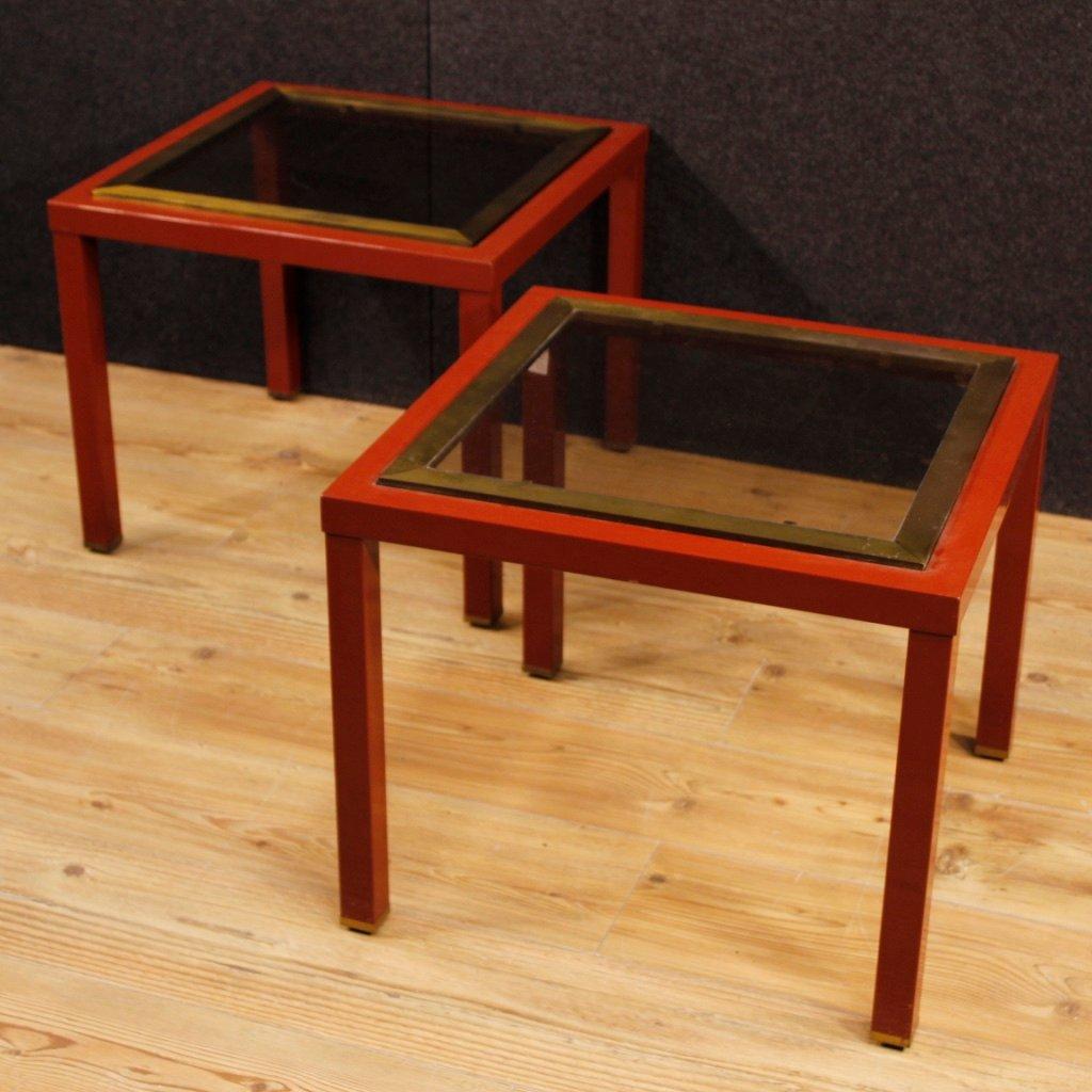 italienische couchtische aus metall mit glasplatten. Black Bedroom Furniture Sets. Home Design Ideas