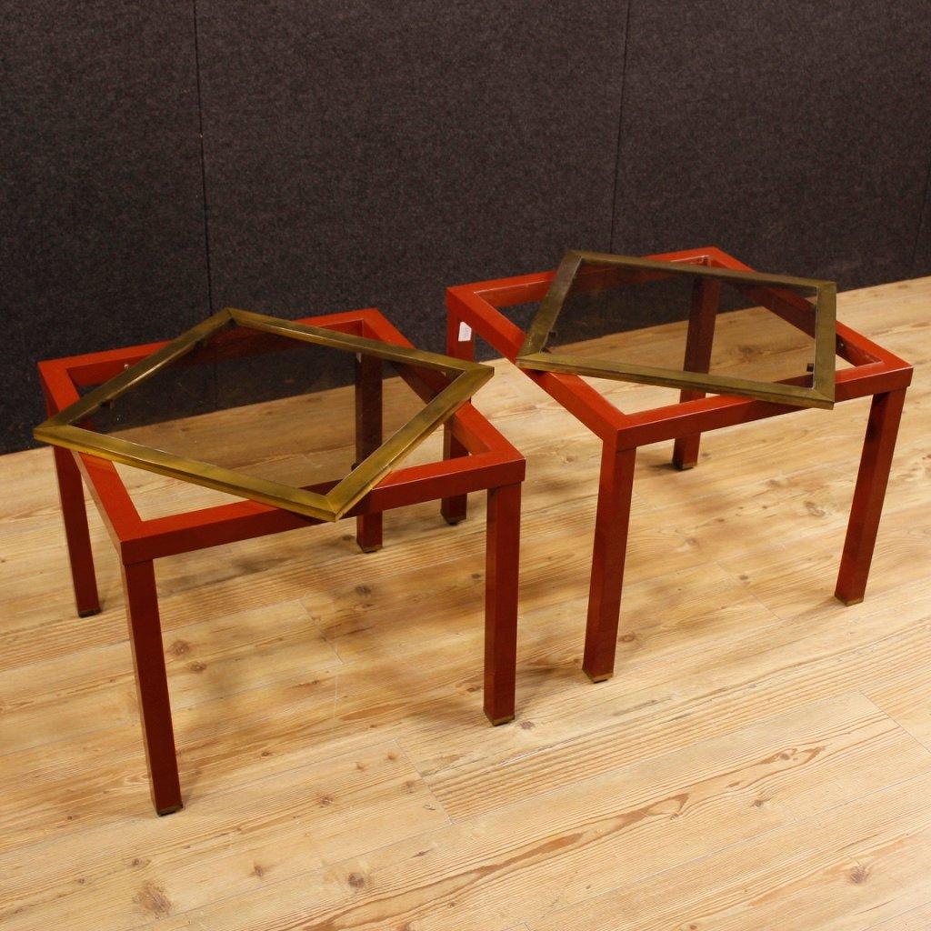 Mesas de centro italianas de metal con superficies de vidrio a os 80 juego de 2 en venta en pamono - Fallout juego de mesa ...