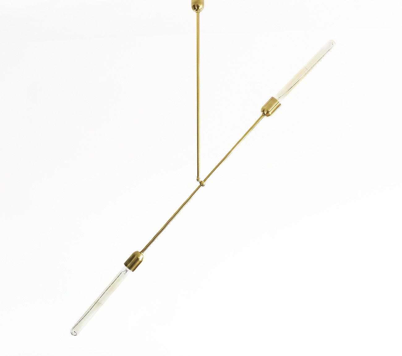 Moderne Hängelampe aus massivem Messing von Balance Lamp