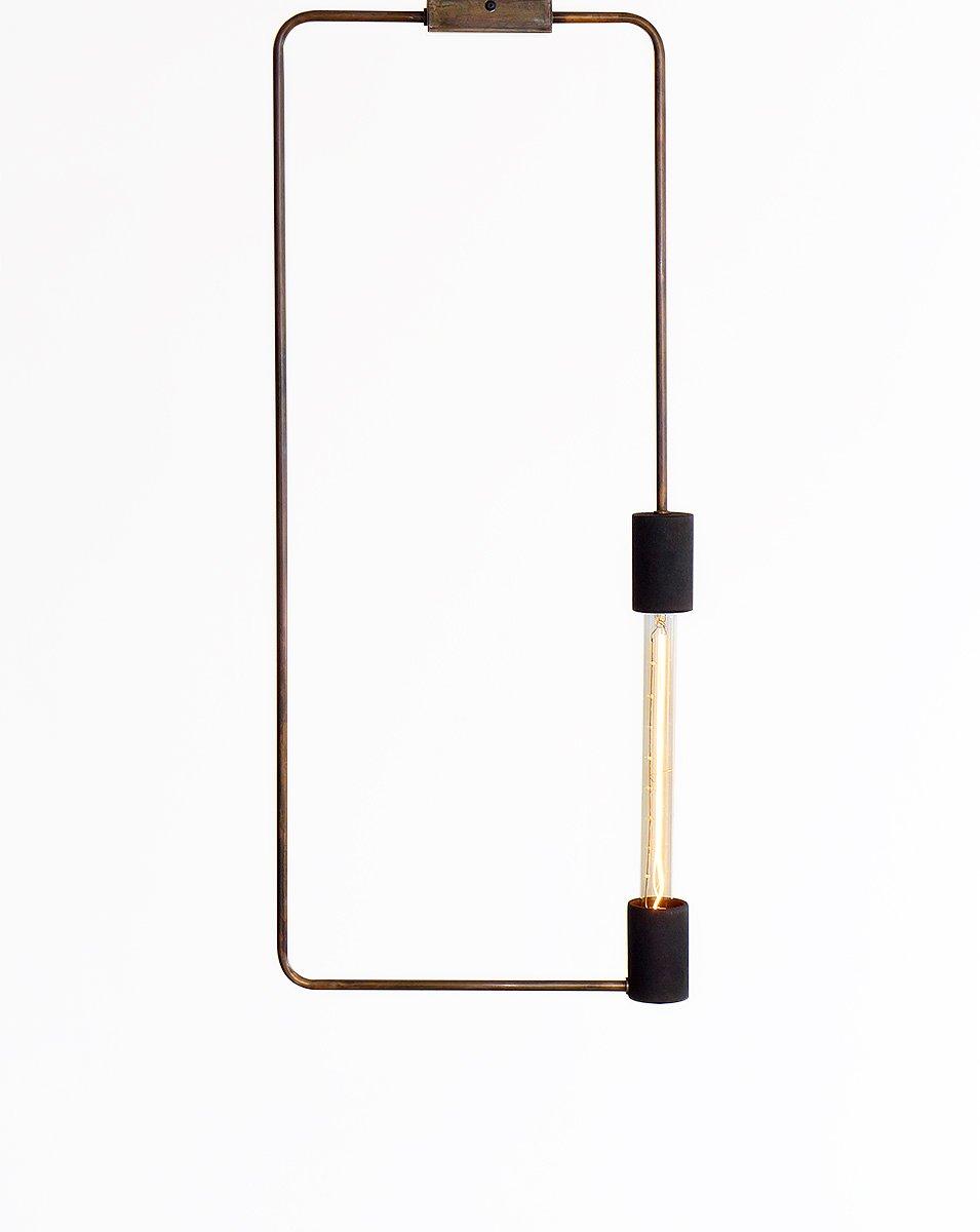Minimalistische industrielle rechteckige Deckenlampe von Balance Lamp