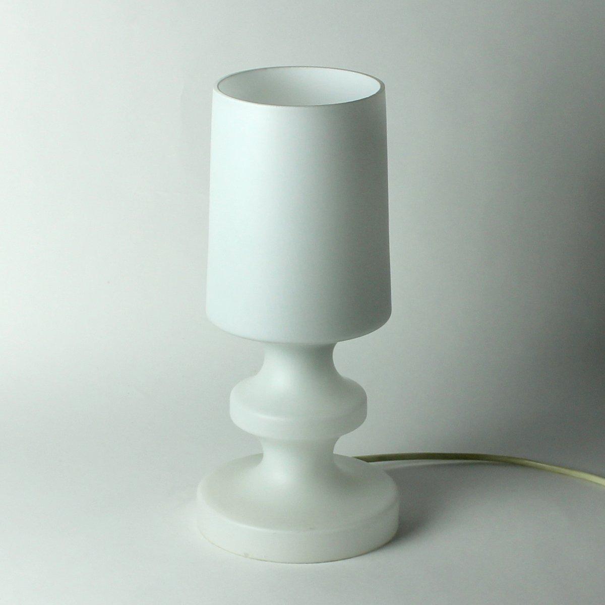 Tischlampe aus weißem Glas von Ivan Jake für Osvetlovaci Sklo, 1970er