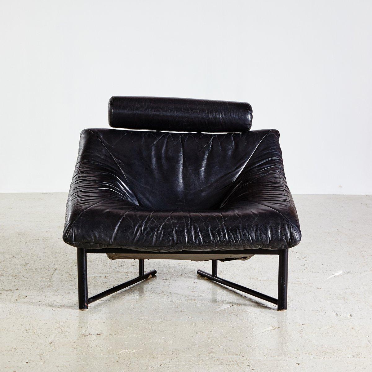 schwarzes vintage leder sofa set 1980er bei pamono kaufen. Black Bedroom Furniture Sets. Home Design Ideas
