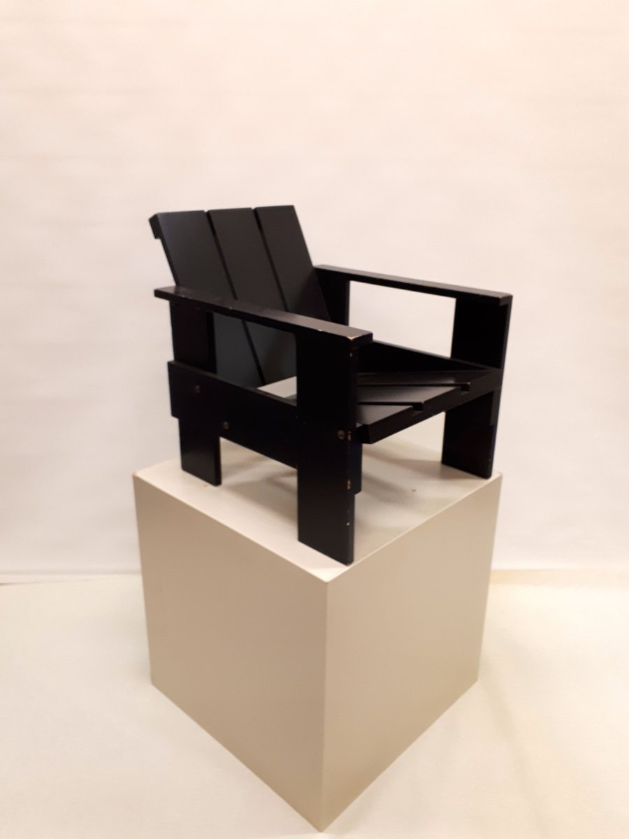 Vintage Junior Crate Chair By Gerrit Thomas Rietveld For Rietveld