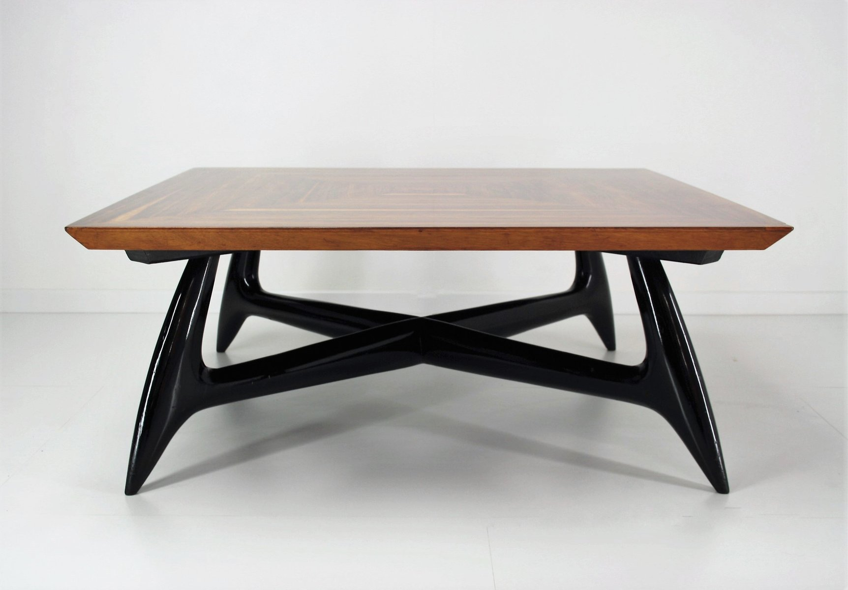 grande table basse de apelli varesio italie 1950s en vente sur pamono. Black Bedroom Furniture Sets. Home Design Ideas