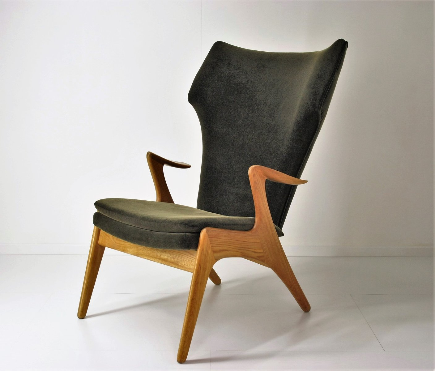 High Back Lounge Chair By Kurt Østervig, 1960s