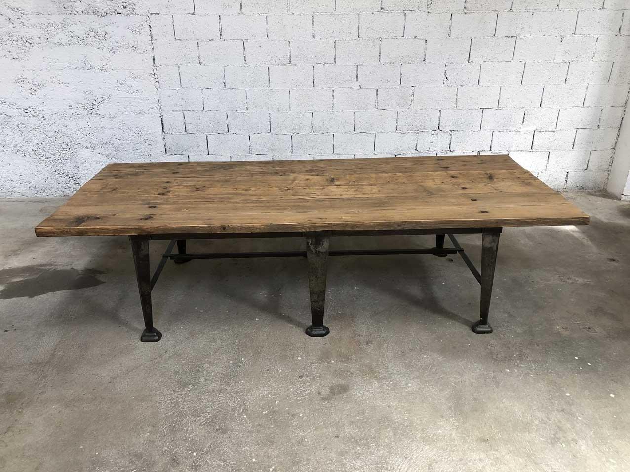 Tavolo Da Pranzo Industriale : Tavolo da pranzo grande vintage industriale in legno di pino in