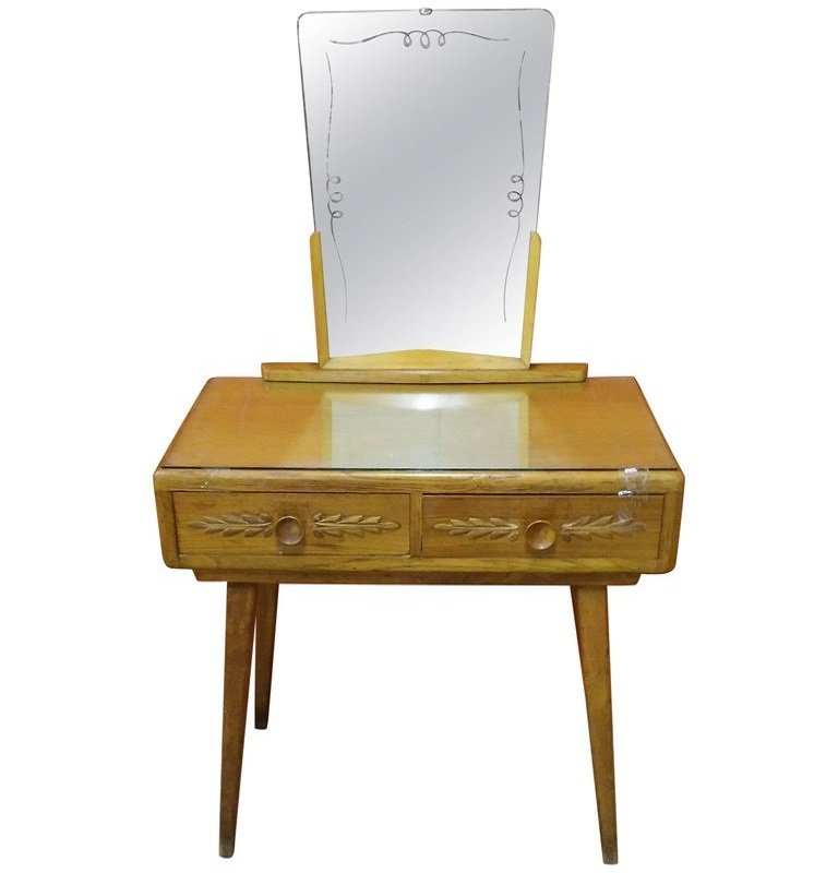 Dressing Table With Mirror By Paolo Buffa 1950s