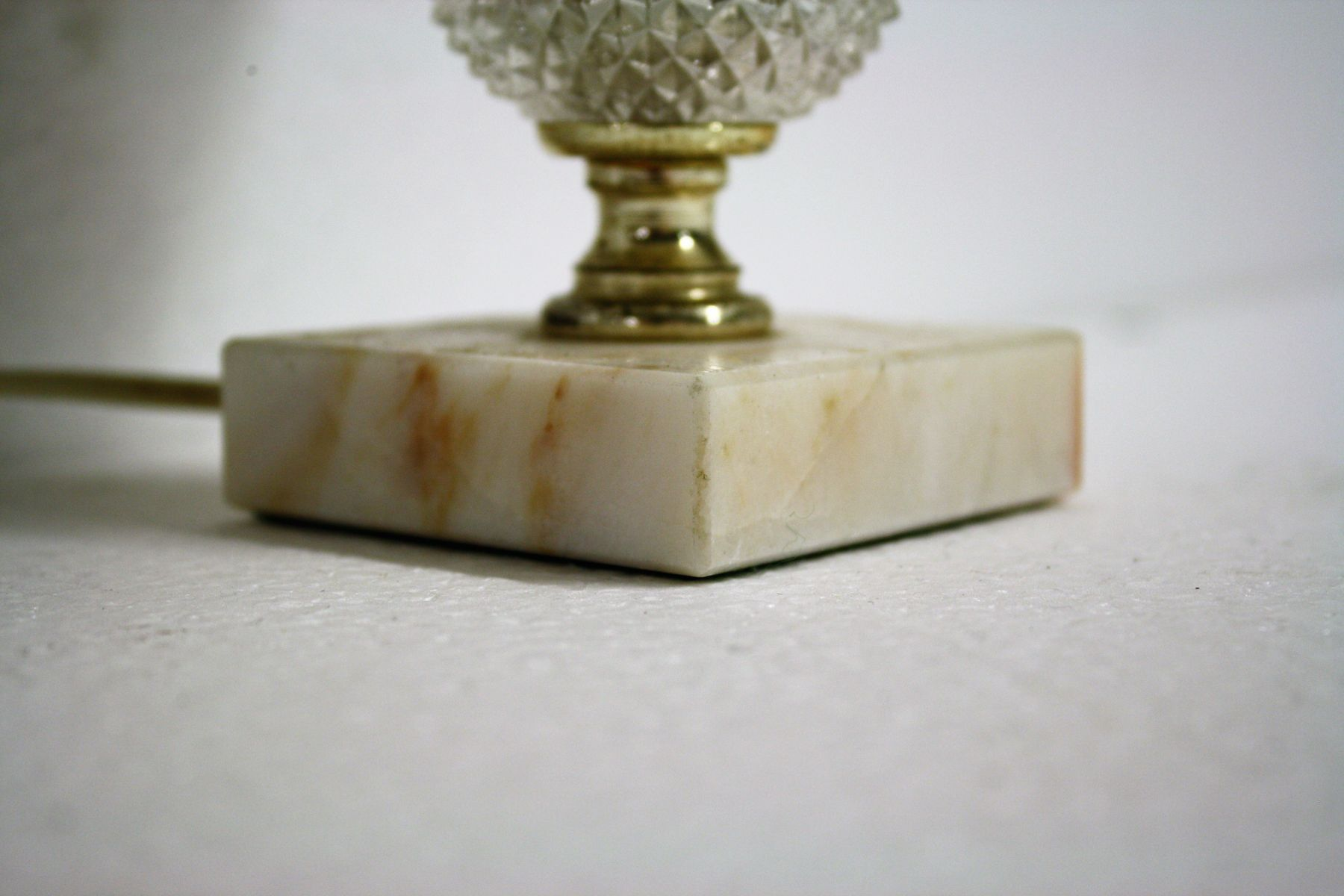 Lampe de bureau en marbre cristal italie s en vente sur pamono
