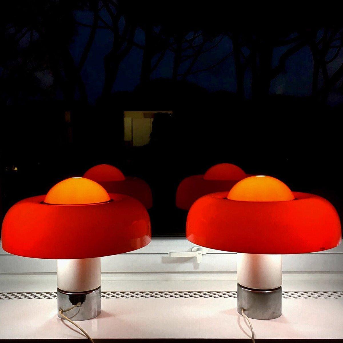 Brumbury Tischlampen von Luigi Massoni für Guzzini, 1969, 2er Set