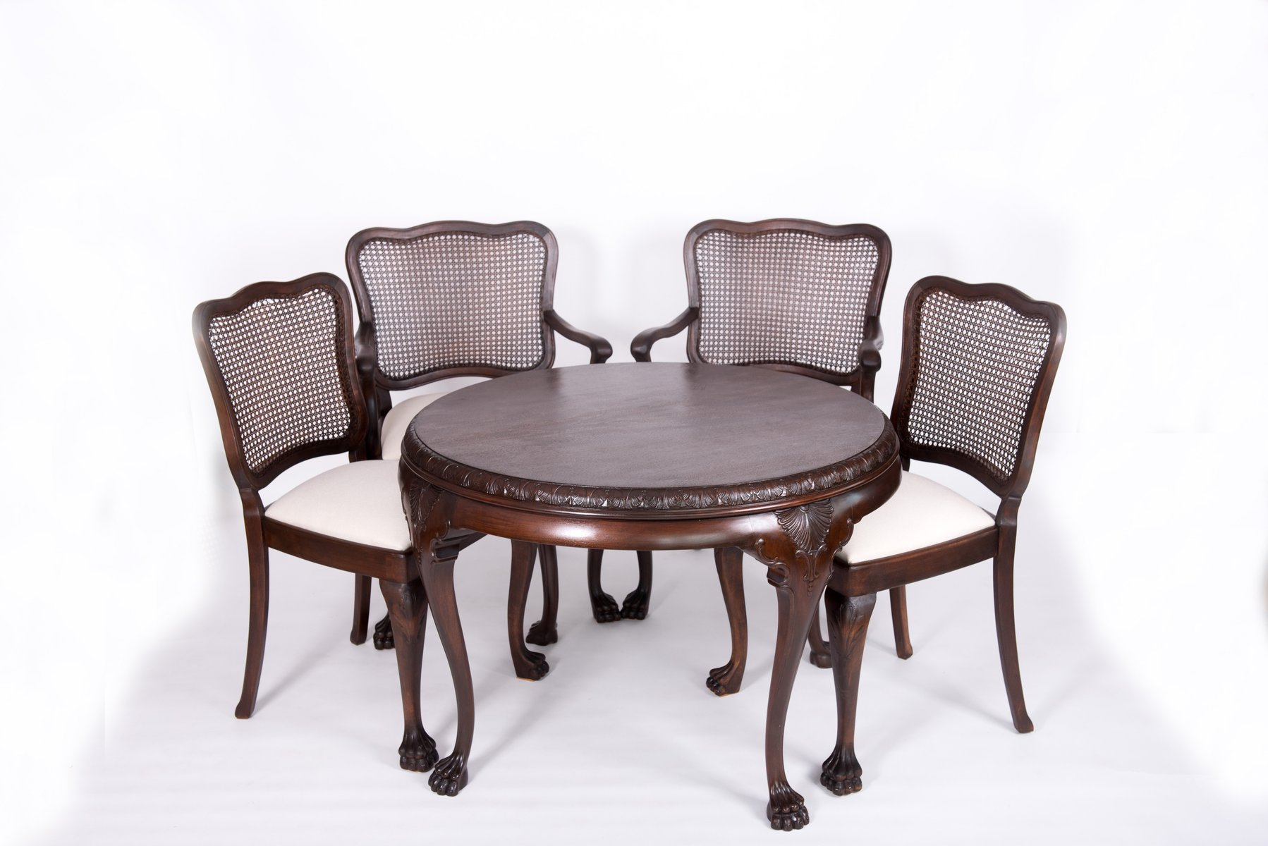Antique Chippendale Style Table Chairs For Sale At Pamono - Coffee table with 4 chairs