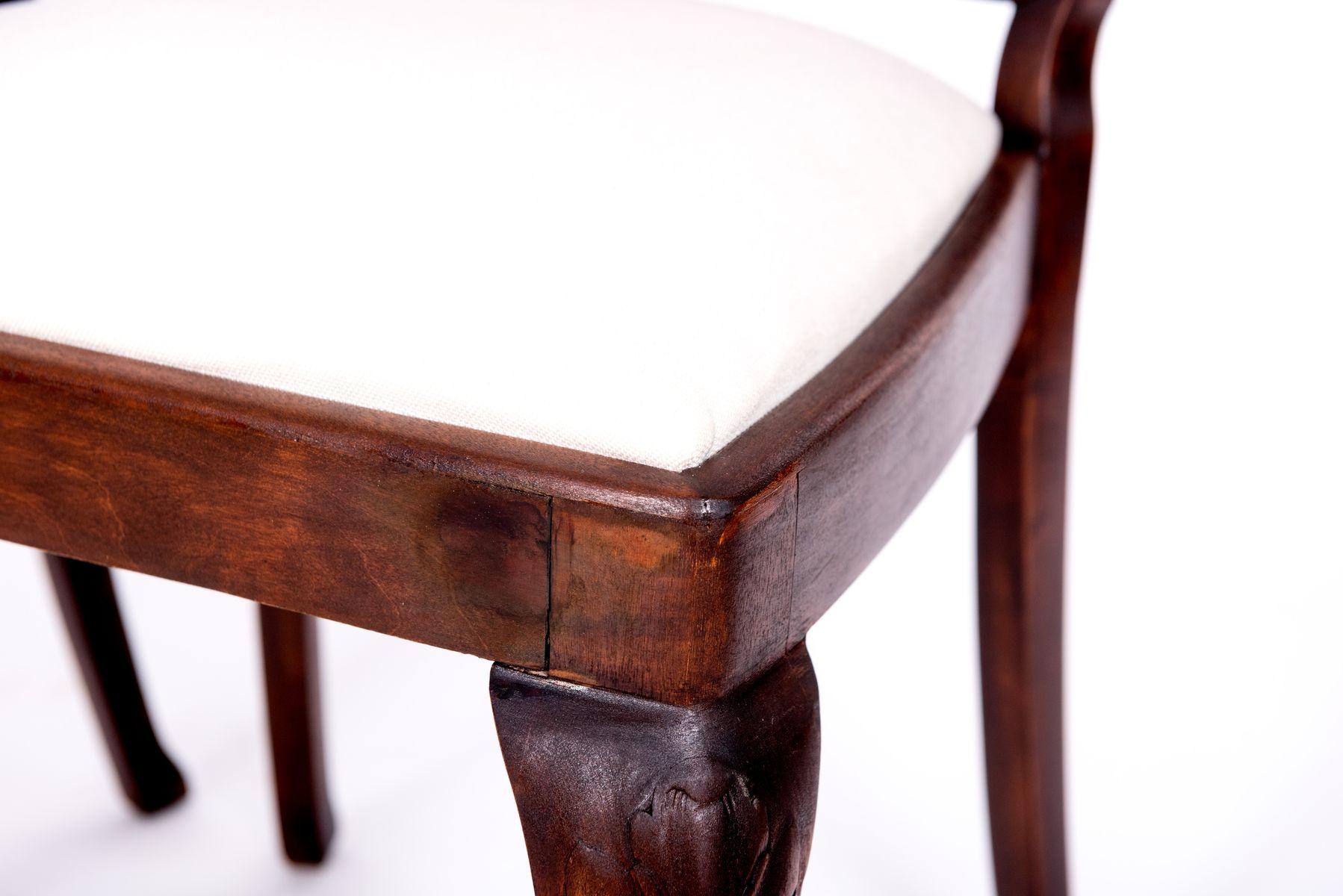 antiker tisch und 4 st hle im chippendale stil bei pamono kaufen. Black Bedroom Furniture Sets. Home Design Ideas