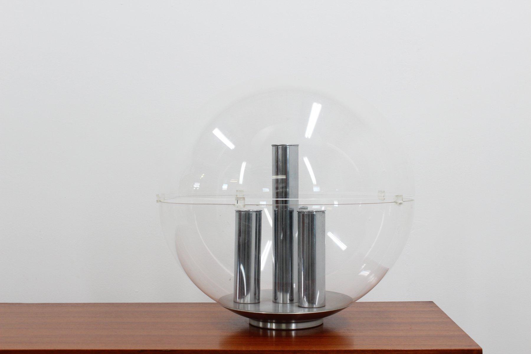 Große sphärische Tischlampe von Stilux, 1960er