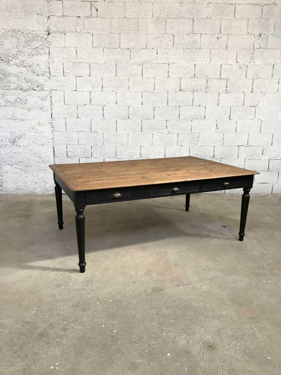 table de salle manger vintage en bois en vente sur pamono. Black Bedroom Furniture Sets. Home Design Ideas