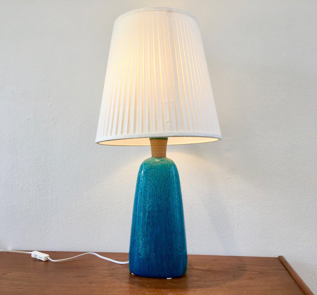 Türkise Mid-Century Tischlampe von Nils Kähler, 1950er