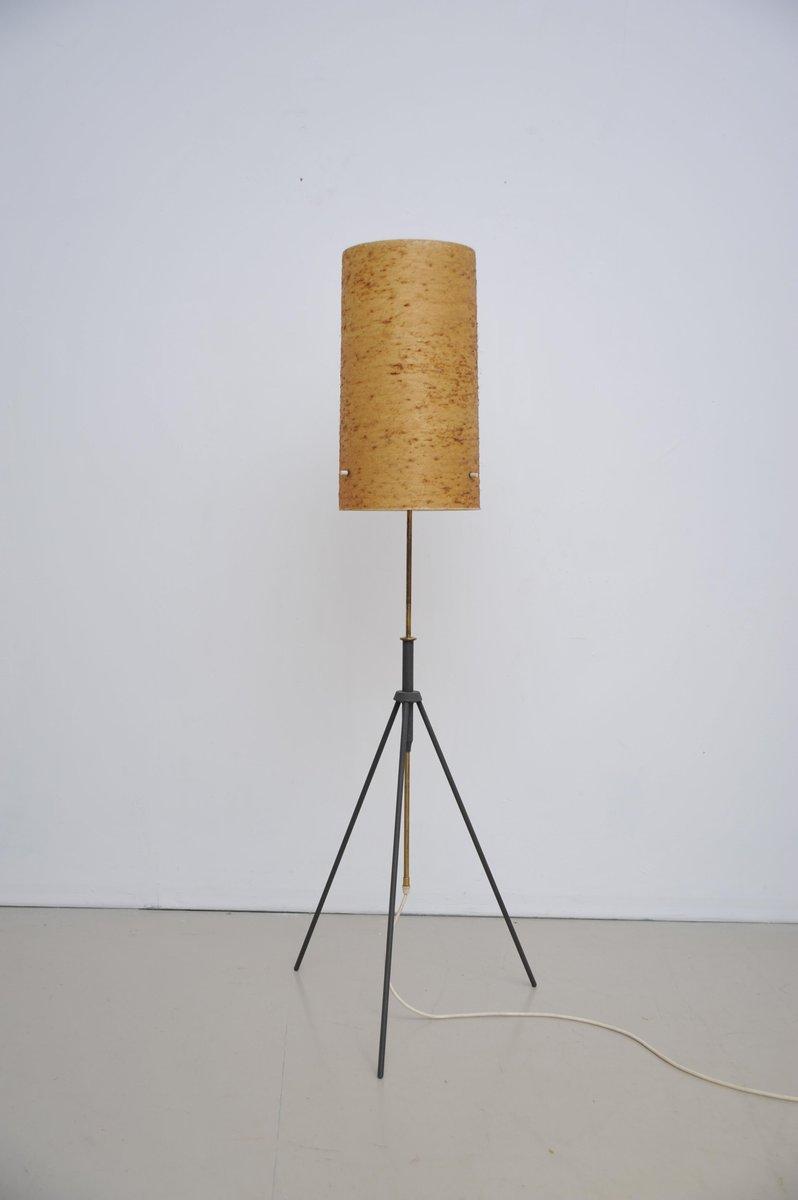 Fabelhaft Dreibein Stehlampe Galerie Von Verstellbare Vintage Mit Fiberglas Schirm