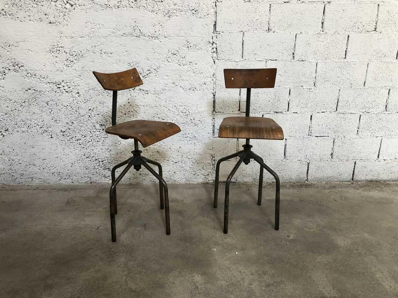 barhocker 1950er 2er set bei pamono kaufen. Black Bedroom Furniture Sets. Home Design Ideas